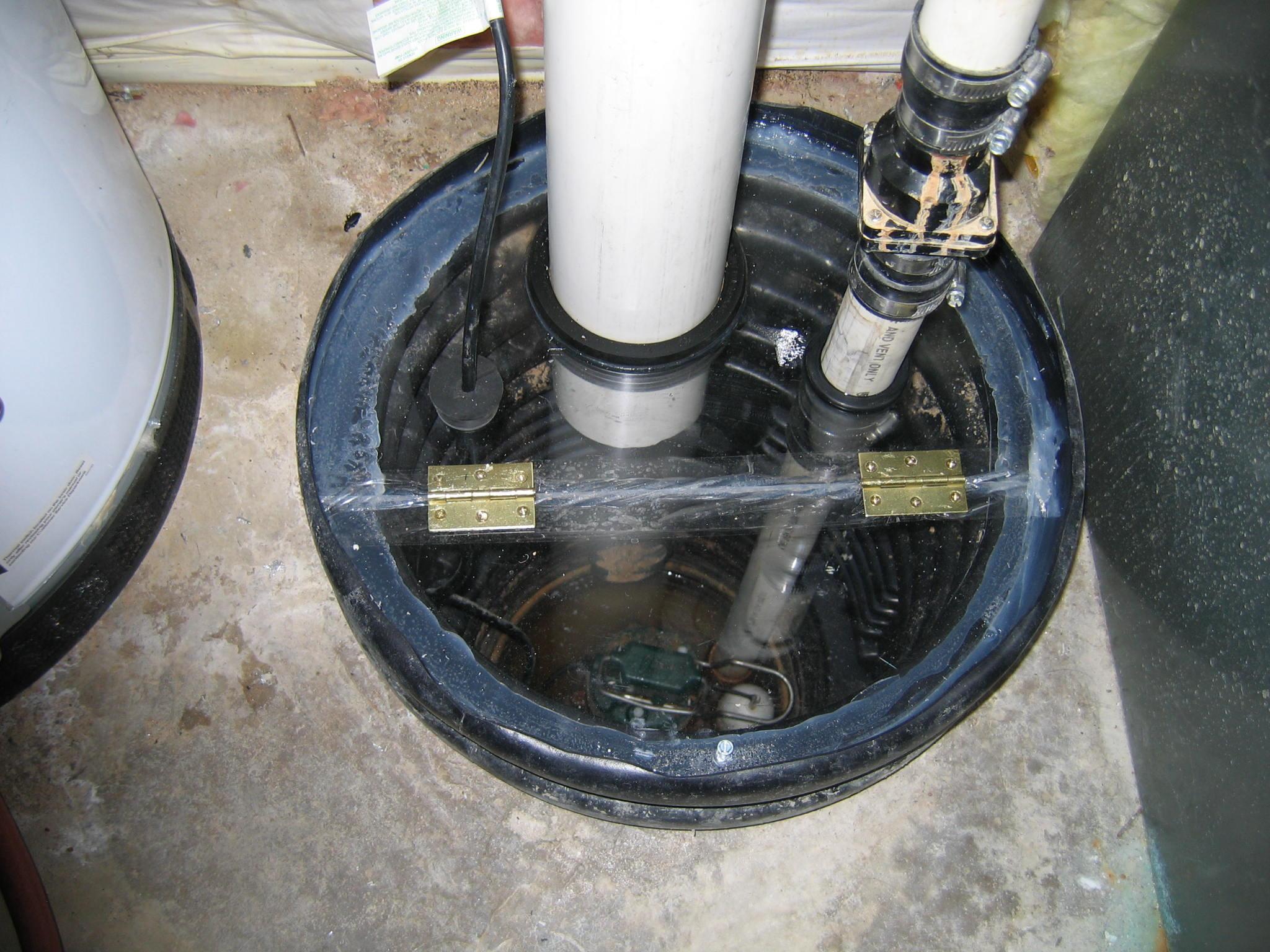 Photos Of Radon Sump Pump Cover